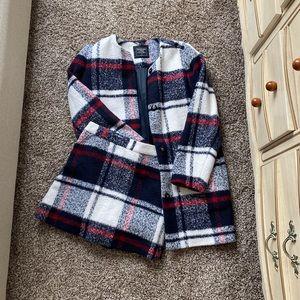 Matching Peacoat and skirt